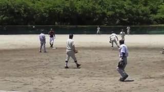 JA愛知東 野球部 2016年6月18日 JAあいち尾東戦 キャプテン加藤 ツーベース