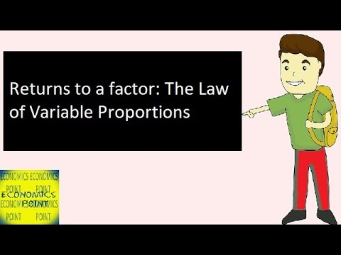 V-20 The Law of Variable Proportions