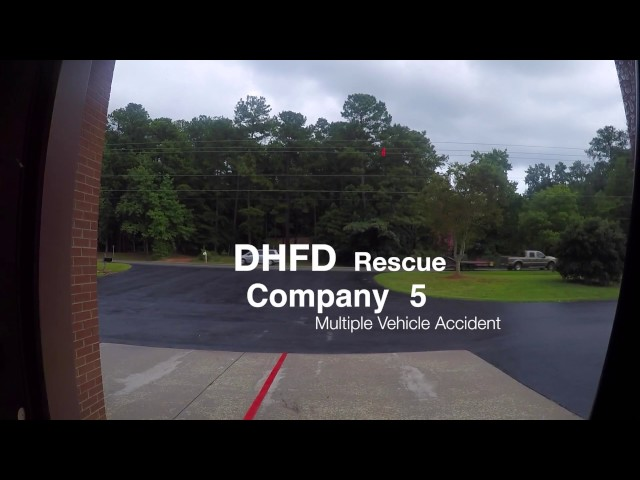 Rescue Company Responding to Head On Collision [GoPro HD]