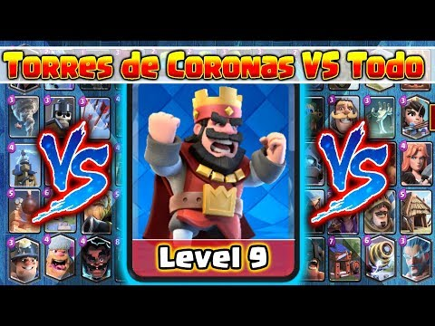 Torre de Coronas VS Todas las Cartas // Clash Royale