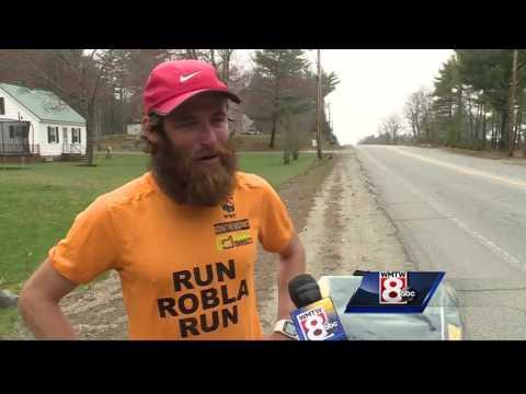 Championship runner recreates Forrest Gump's cross-country run