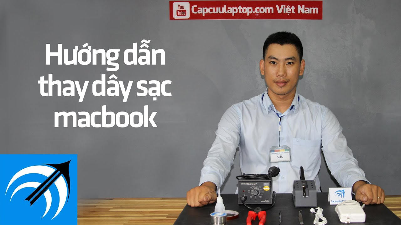 Hướng dẫn thay dây sạc Macbook – Capcuulaptop.com