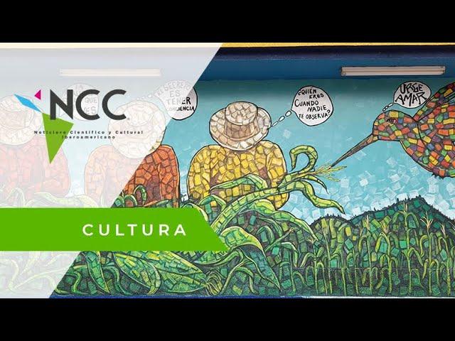 Denis Berrios, el pintor catracho que crea murales colectivos