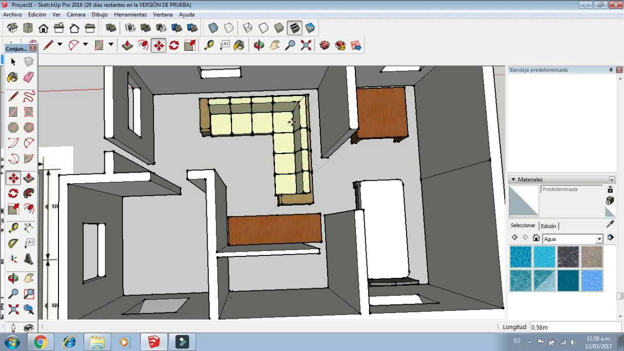Plano casa sketchup youtube for Planos de casas quma