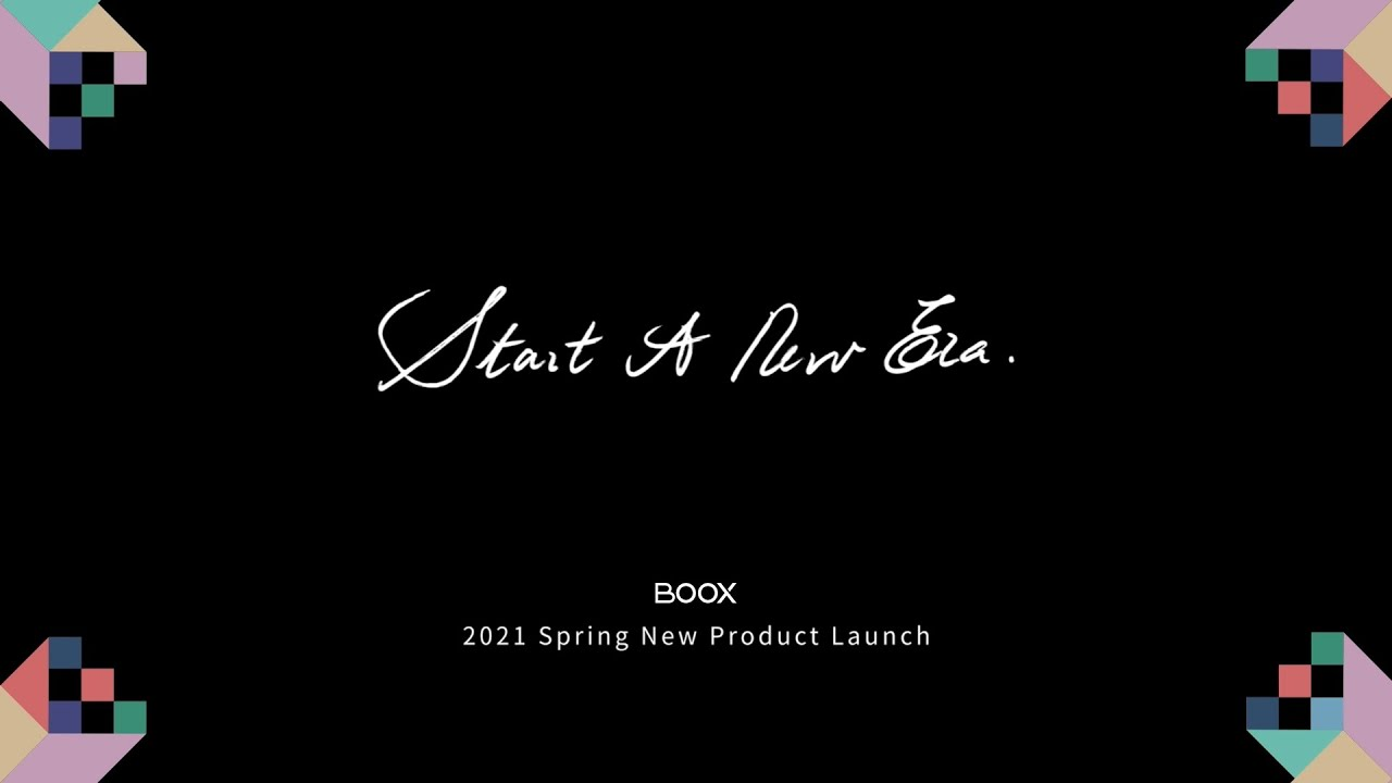 Full-Length BOOX Spring New Product Launch 2021
