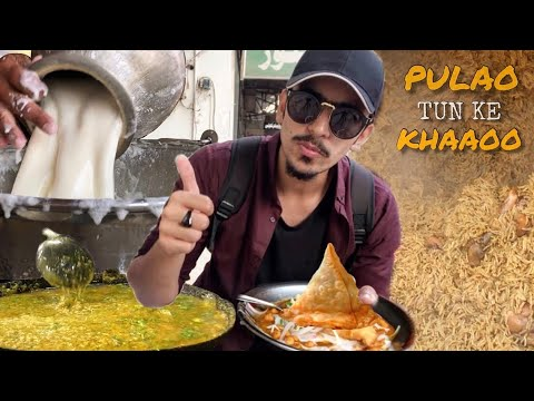 PAKISTANI STREET FOOD IN FAISALABAD - MOST FAMOUS MAKHNI DAAL, CHICKEN PULAO OR BANGALI KI LASSI