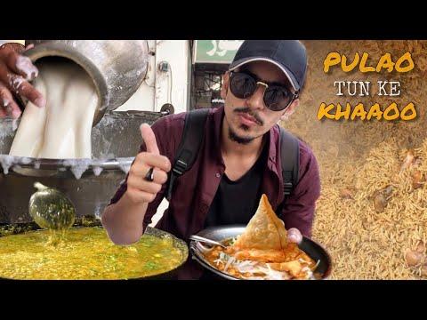 PAKISTANI STREET FOOD IN FAISALABAD - MOST FAMOUS MAKHNI DAAL, CHICKEN PULAO OR BANGALI KI LASSI