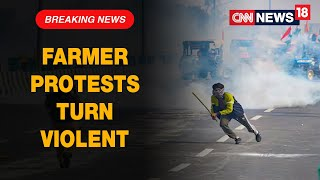 Farmers Protests Turn Violent, Flag Hoisted at Red Fort, Internet Cut in Some Parts Of Delhi