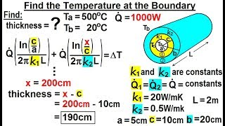 Physics: Ch 24A - Heat Conduction: Test Your Knowledge (10 of 22) Insulation thickness=?