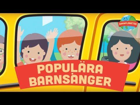 Populära barnsånger: Vipp-på-rumpan-affärn, Krokodilen i bilen, Klappa händerna m.fl.