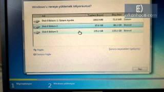 Windows 7 Yüklemek Format Installing Microsoft Windows 7