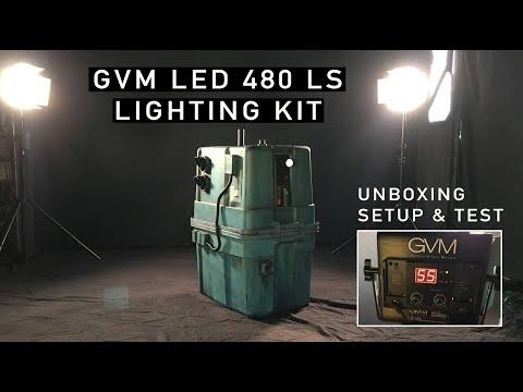 Studio LED Lighting Setup - GVM LED 480 LS