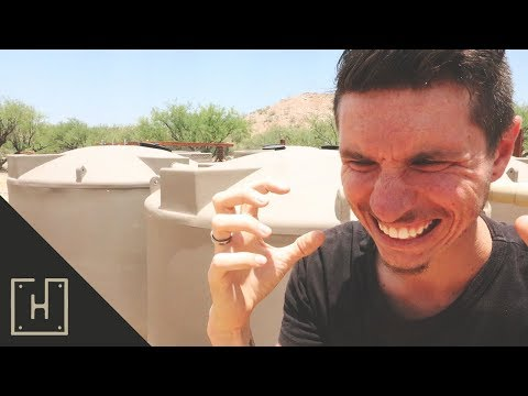 WE'RE RUNNING OUT OF WATER!?!? Rainwater Harvesting In The Desert