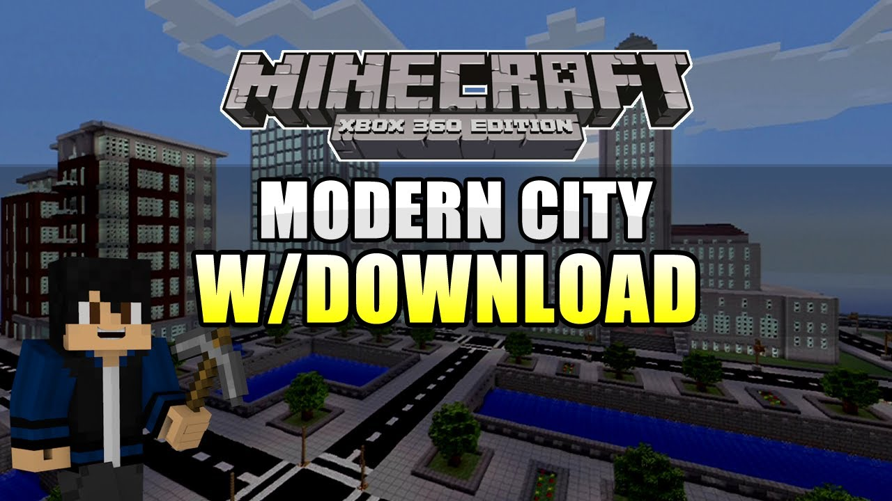 minecraft xbox 360 maps download city