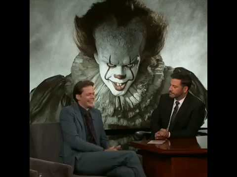 Bill talks on transforming into Pennywise! (Jimmy Kimmel Show)