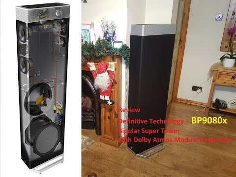 Review of my Definitive Technology BP9080x Front Super Tower Bipolar with Dolby Atmos Integrated