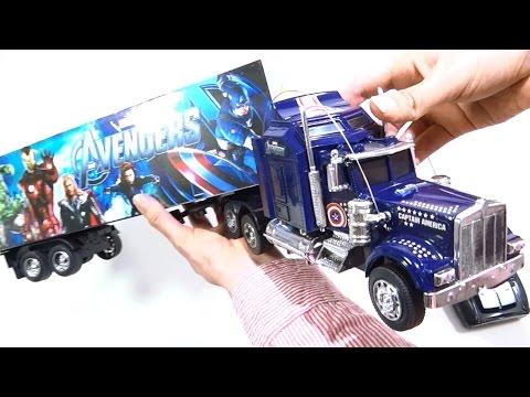 Tracto Mula Camion Control Remoto De Avengers Juguetes Toys Trailer Truck RC