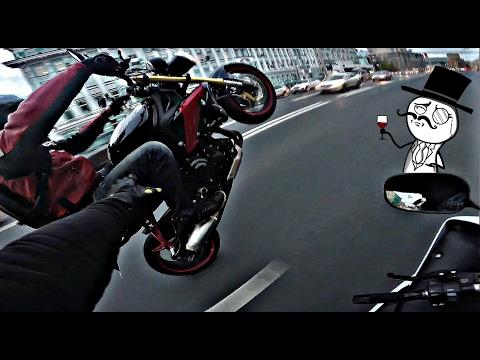Агрессивная езда в пробке без монтажа - Прикольное видео онлайн