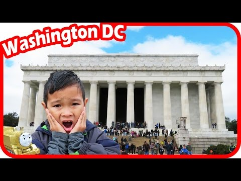 TigerBox in Washington DC with Thomas and Friends visiting Lincoln Memorial Vlog #1