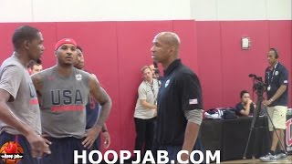 Kevin Durant VS Carmelo Anthony Battle To See Who Can Make The Most 3 Pointers.HoopJab