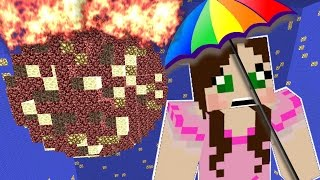Minecraft: METEOR DESTROYS THE WORLD! - LIBRARY DROPPER - Custom Map [6]