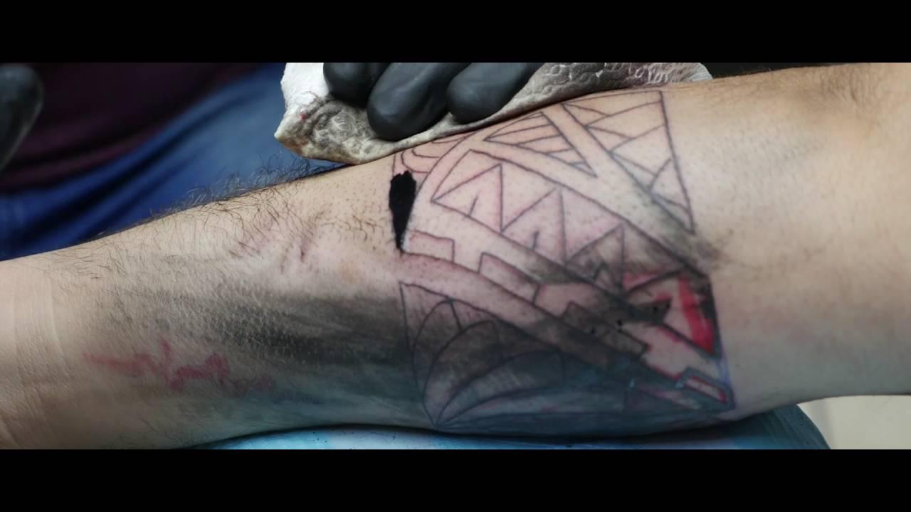 Tattoo Timelapse Trt Studio Maori Bracelet Freehand Youtube
