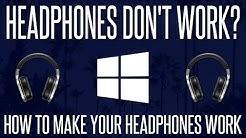 Headphones Don't Work On PC? - How To FIX Headphones Not Detected on Windows 10 | 2020
