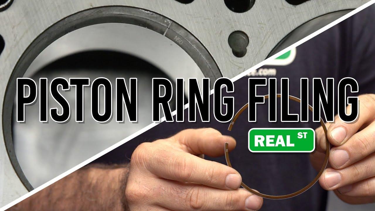Jays Tech Tips 47 Piston Ring Filing  Real Street Performance