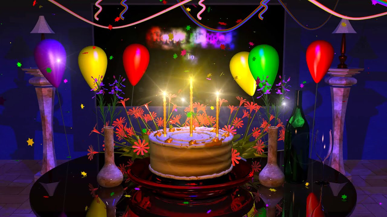 3d Fire Name Wallpaper Magical Cake Animated Happy Birthday Song Youtube