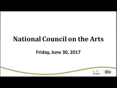 National Council on the Arts Meeting, June 30, 2017