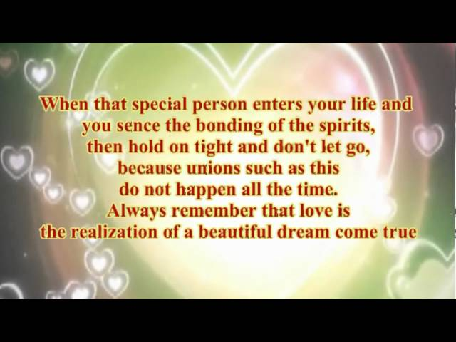 Wedding Soulmates In Love Poem Song Greatest Love Of All