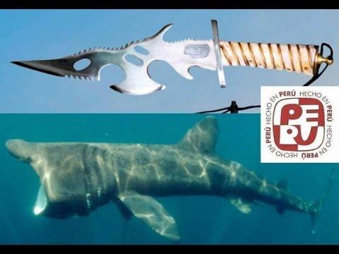PERU TIBURON GIANT  PEREGRINO BASKING SHARK   KNIFE  CUTERVO WALTER BERRIOS MUSICA  CARLOS ZAPATA