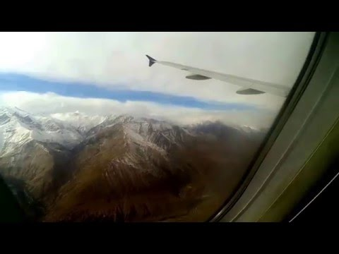 Aerial View of Ladakh from highest airport in India (3256m) above sea level