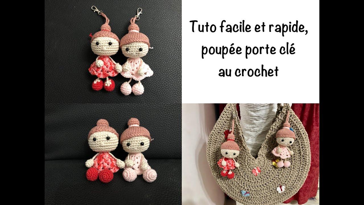 tuto poupee bambola porte cle au crochet