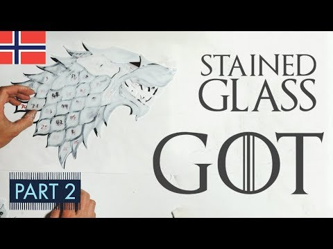 DIY Game of Thrones Direwolf Stained Glass (PART TWO)