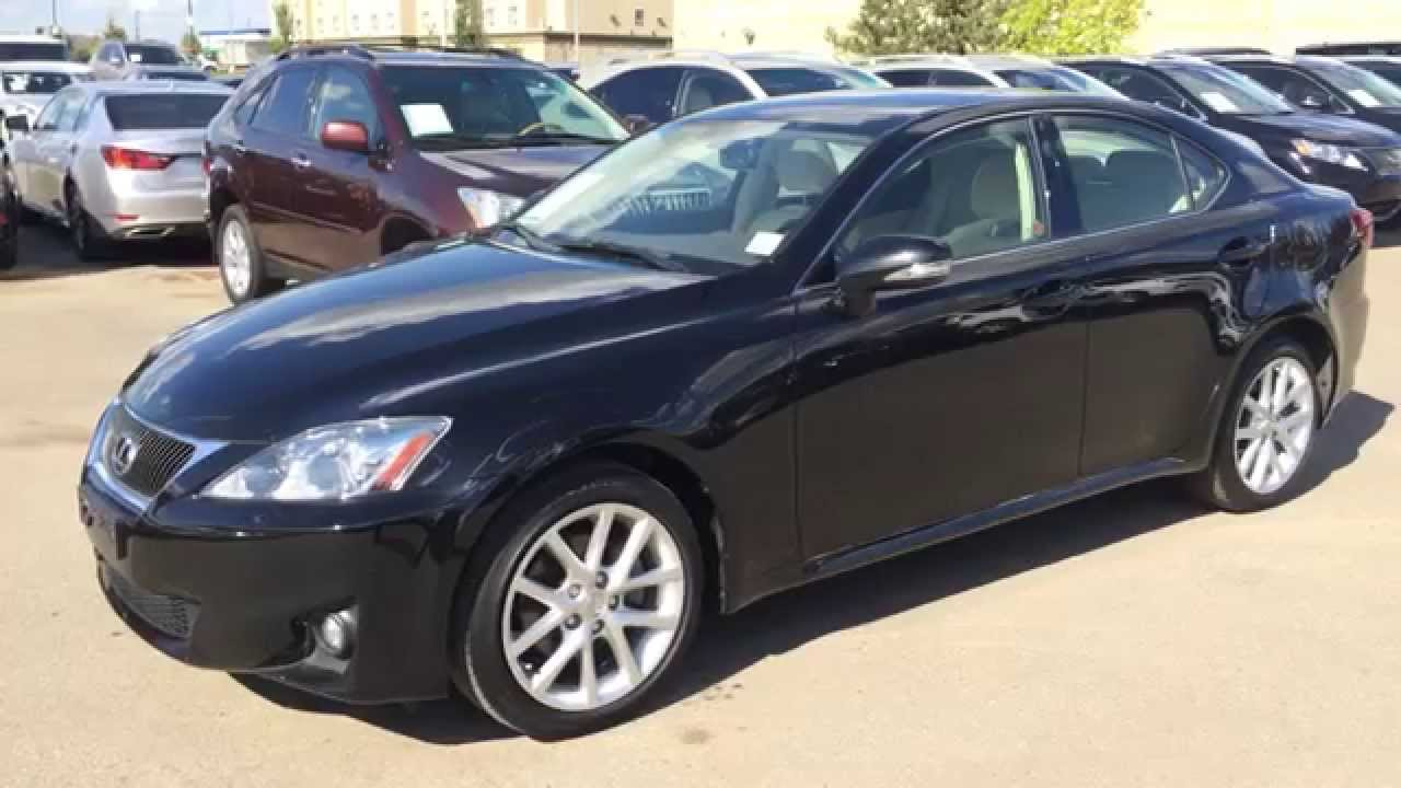lexus certified pre owned black on ecru 2011 is 250 awd leather w moonroof review alberta. Black Bedroom Furniture Sets. Home Design Ideas