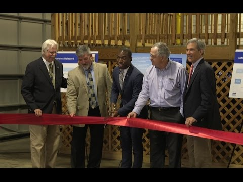 Wastewater Treatment Plant Upgrade Ribbon Cutting, May 5, 2017