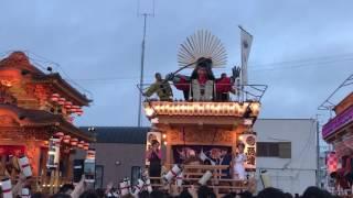 御前崎駒形神社祭典の合同披露、西側区子供の部.