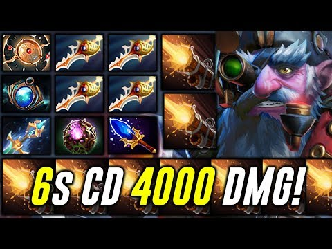 Sniper - 6 sec CD 4000 Damage - EPIC Rapier Comeback Dota 2