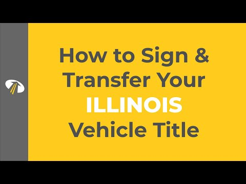 Title Transfer Illinois >> How To Sign Your Illinois Title Transfer