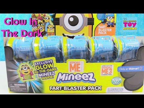 Fart Blaster Pack Minions Mineez Exclusive Walmart Glow In The Dark Blind Bag Toy Review | PSToyRevi