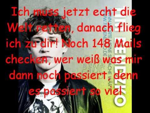 Tim Bendzko - Nur noch kurz die Welt retten (lyrics)