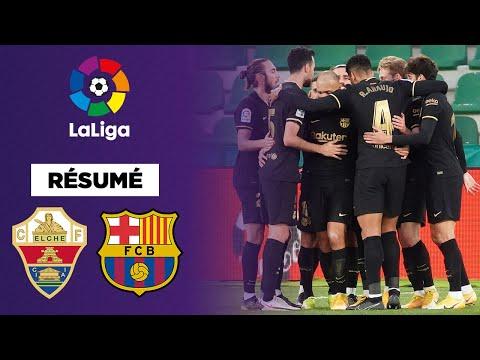 Résumé : Le Barça sans forcer à Elche