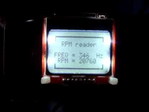 RPM reader for homemade CNC