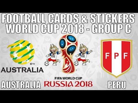AUSTRALIA v PERU ⚽ Group C ⚽ Football Cards & Stickers FIFA WORLD CUP 2018 ⚽ Panini ⚽ Match #38