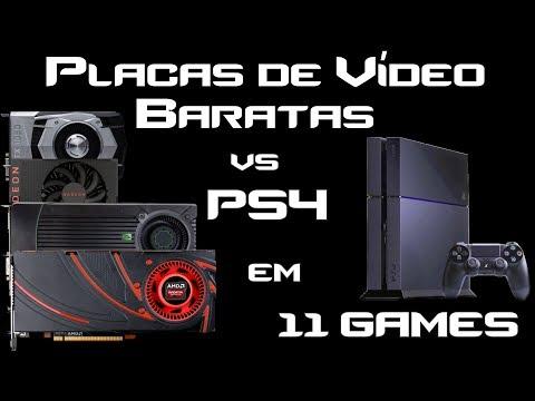Placas de Vídeo Baratas vs PS4. Qual GPU usar num PC Gamer Barato para performance de PS4? + G4560