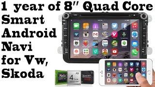 Video 1 year of 8'' Quad Core Android Smart Navigation, DVR, BT, gps, 3g, integrated WIFI for Vw, Skoda download MP3, 3GP, MP4, WEBM, AVI, FLV Juni 2018