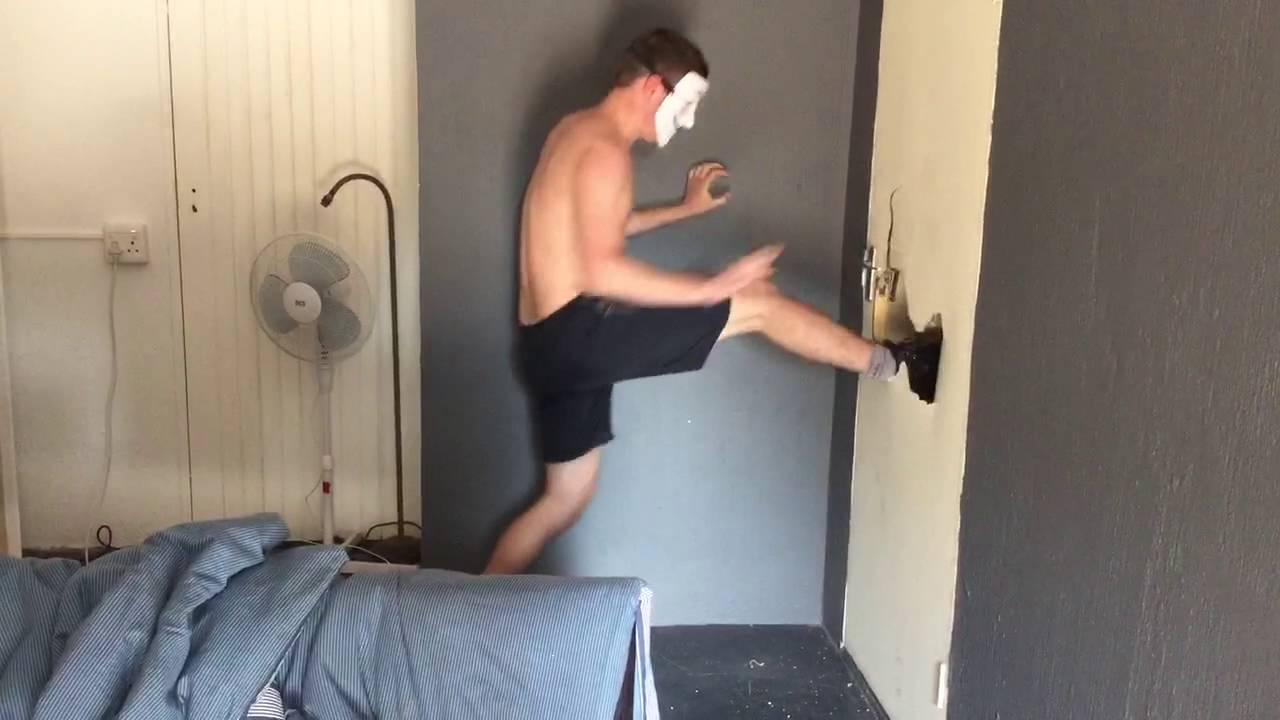 Kicked In Door : Kicking through door youtube