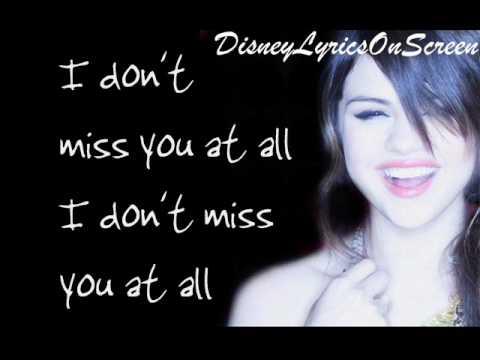Selena Gomez & The Scene - I Don't Miss You At All - Karaoke/Instrumental (with Lyrics)