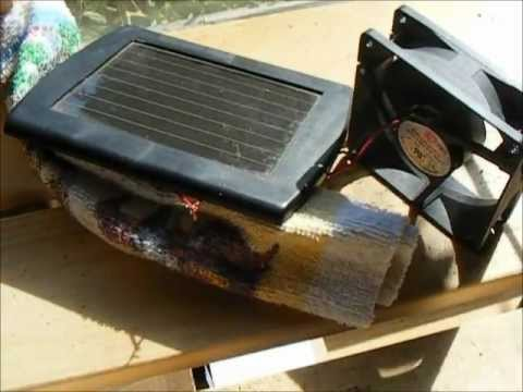 Diy A Cheap Easy Solar Fan For The Greenhouse Youtube